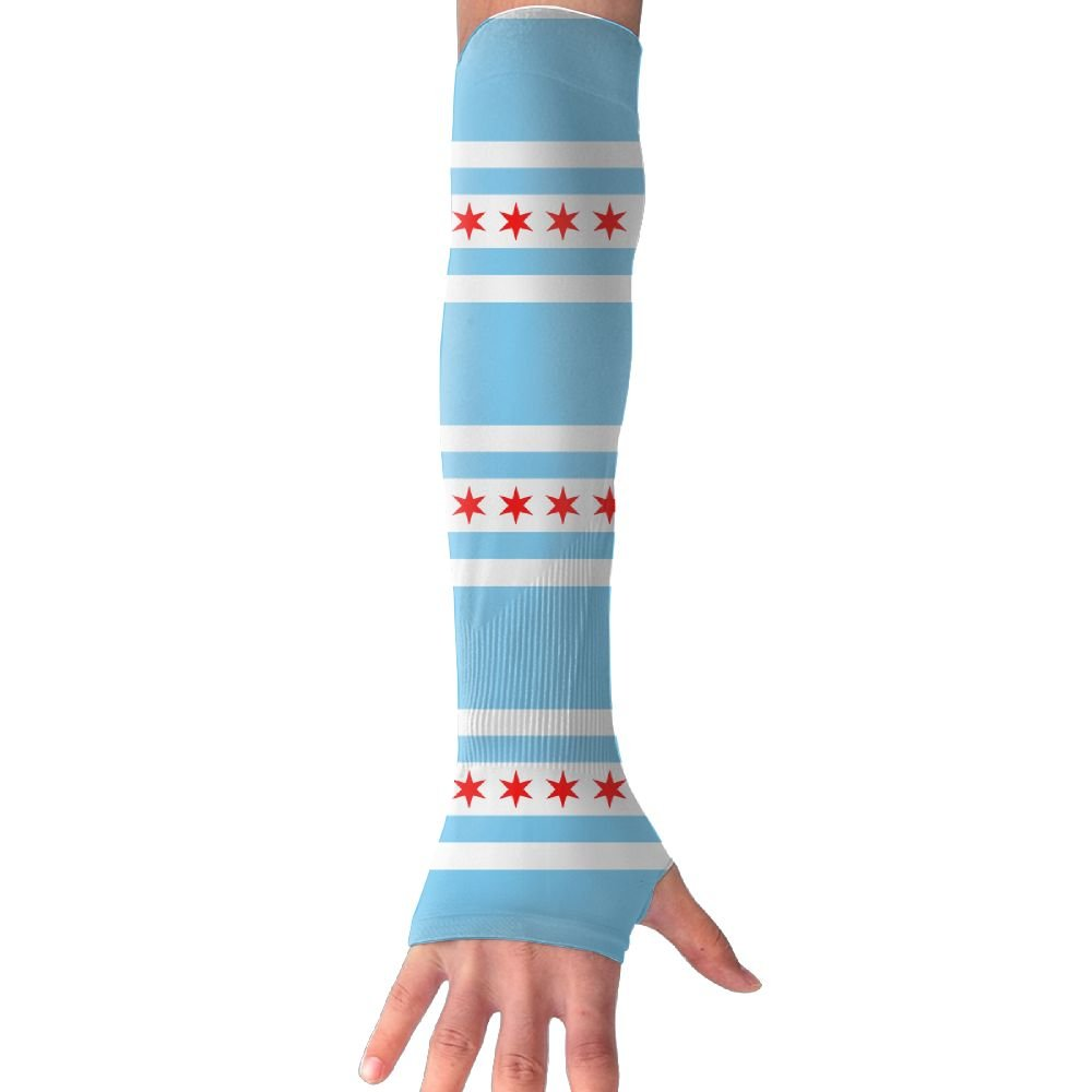 Unisex Chicago Flag Style Sense Ice Outdoor Athletic Arm Warmer Long Sleeves Glove