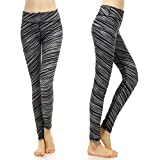 SOUTEAM Womens Yoga Leggings with Pocket Lightweight Fitness Pants, Breeze Gray Large