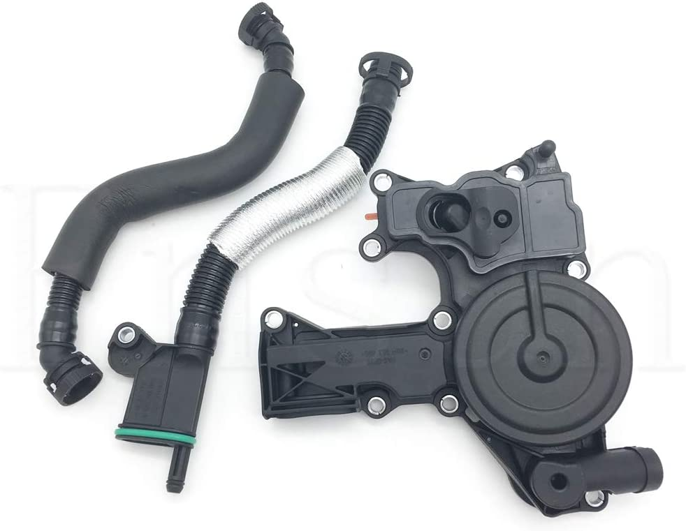 ANPART PCV Engine Oil Separator Crankcase Vent Valve /& Breather Hose Kit Replacement for 2006-2010 A3 A4 TT Quattro Eos GTI Jetta Passat 06F129101P