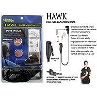 Hawk Lapel Mic EP1323 M3 Police Earpiece Motorola GP900, GP9000, HT1000, JT1000, MT2000, MTS2000, MTX838, MTX900, MTX8000, MTX9000, MTX960, MTX-LS, XTS1500, XTS2500, XTS3000Astro, XTS5000, XTS2500, XTS30000, XTS3500, XTS5000, XTS3000, PR1500, PM1500, JEDI (NON QUICK RELEASE VERSION)
