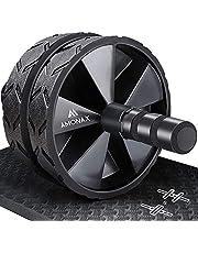 Amonax Konvertibel ab hjulrulle med stor knämatta för Core Abs utrullningsträning. Dubbelhjulsset med dubbla träningslägen för fitness styrka på gym eller hemma