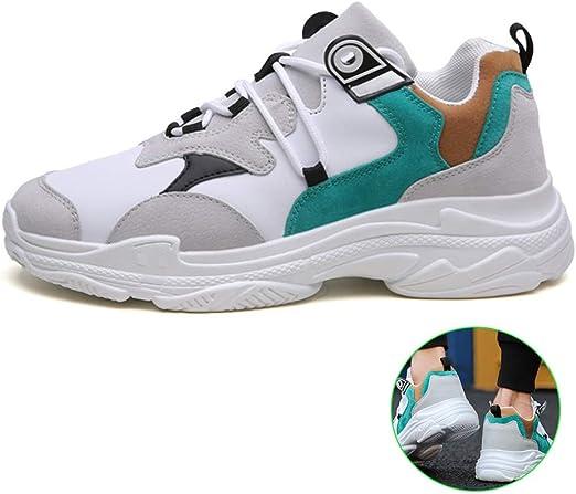 H.L Otoño e Invierno de los Hombres de la Plataforma de los Deportes Zapatos de Moda Casual Zapatos de los Hombres Zapatillas de Running,43: Amazon.es: Hogar