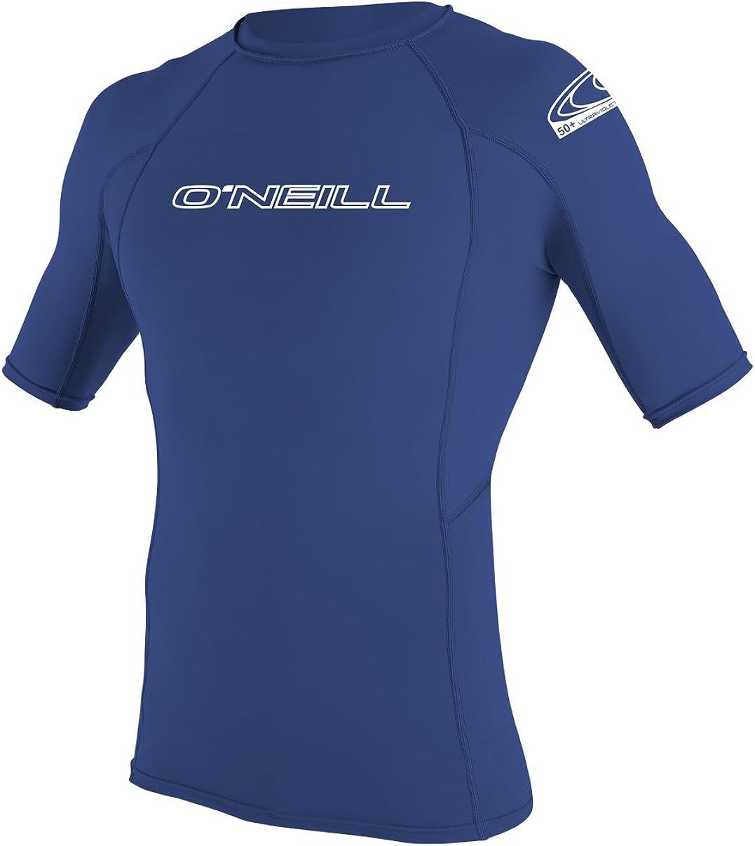 O'Neill Men's Basic Skins UPF 50+ Short Sleeve Rash Guard: Clothing