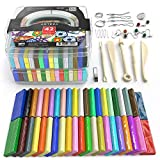 clay tool starter kit - Arteza Polymer Clay Starter Kit, 42 Colors of Oven-Bake, Baking Clay Blocks, 5 Sculpting Tools, and 30 Jewelry Accessories