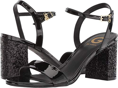 G by GUESS Women's Destin Black Patent 8.5 M US (Leather Patent Guess Sandals)