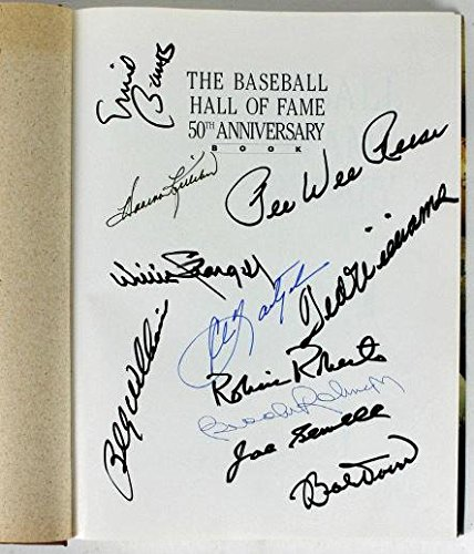 11-MLB-Hall-Of-Famers-Signed-Book-Williams-Yaz-Banks-more-Y07981-PSADNA-Certified-MLB-Autographed-Miscellaneous-Items