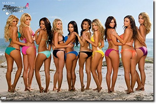 Maxim Beach Bikinis Poster Sexy Hot Girls Rare Hot New