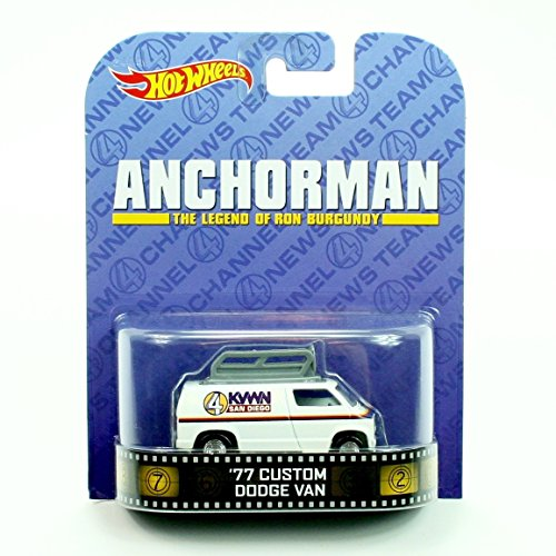 '77 CUSTOM DODGE VAN from the classic comedy ANCHORMAN * Hot Wheels 2013 Retro Entertainment Series * 1:64 Scale Die Cast Vehicle