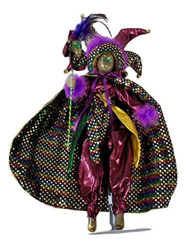 Black Mardi Gras Jester Doll 12