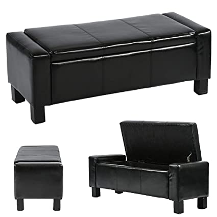 Amazon.com: Ottoman Storage Ottoman Bench Bedroom Bench with Faux ...