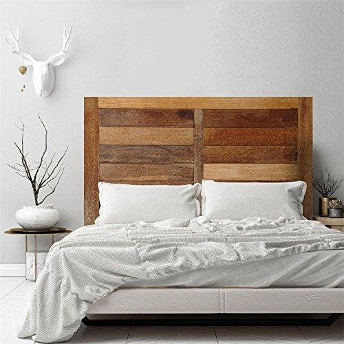 AmazingWall Wooden Effect Headboard Decoration Self Adhesive