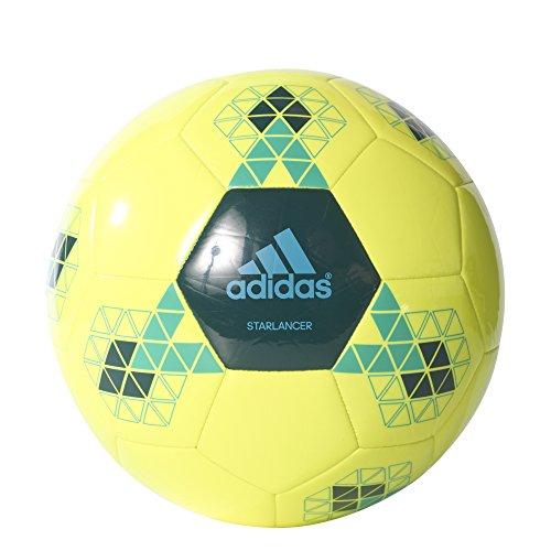 adidas Starlancer V Balón de Fútbol, Hombre Amarillo (Amasol / Vermis / Azuene)