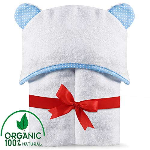 Premium Hooded Baby Bath Towel. Thick, Large (28 x 40