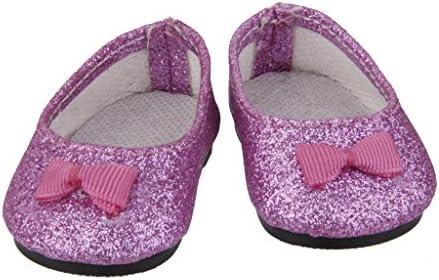 Bling Puppenschuhe Mini Schuhe Silber für American Girl Puppen Unbekannt