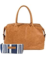 The Aartisan 21 Handcrafted Genuine Leather Duffel Bag for Men Travel Weekend Bag, Free Gift Included, Multi...