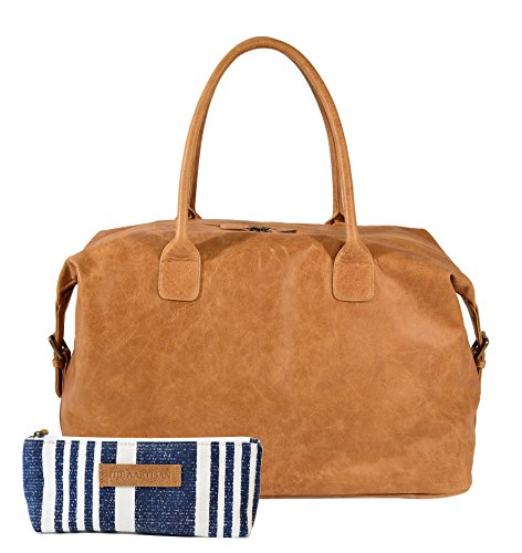 The Aartisan 21'' Handcrafted Genuine Leather Duffel Bag for Men Travel Weekend Bag (Chestnut), Free Gift Included, Multi Purpose Use by THE AARTISAN (Image #7)