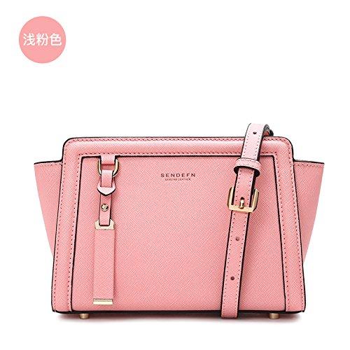 GUANGMING77 Piccole Ali Femmina Mini Crossbody Bag Sacca Piccola Borsa,Luce Rosa S Light pink S