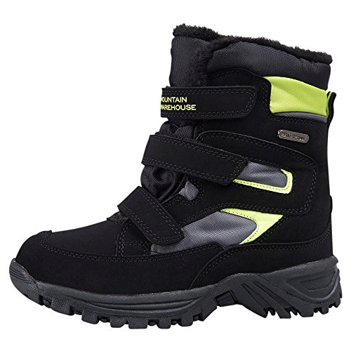 Mountain Warehouse Botas de invierno impermeables Chill para niños Negro