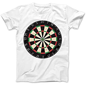 Dartboard Darts Dart Player T-Shirt 100% Premium Cotton