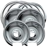 kitchen appliance bundles black friday Range Kleen 1056RGE8 Style D Heavy Duty Chrome 4-Pack Drip Pans and 4-Pack Trim Rings Range Kleen