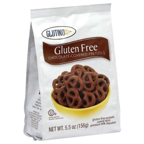 Glutino Chocolate Covered Pretzel, 5.5 Ounce -- 12 per case. Glutino Milk Chocolate
