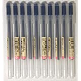 MUJI Gel Ink Ballpoint Pens 0.7mm Blue-black 10pcs by MUJI