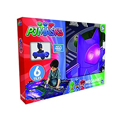 Pjmasks Mega PlayMat with Vehicle (6 Piece) (Pack of 7), Multicolor: Toys & Games