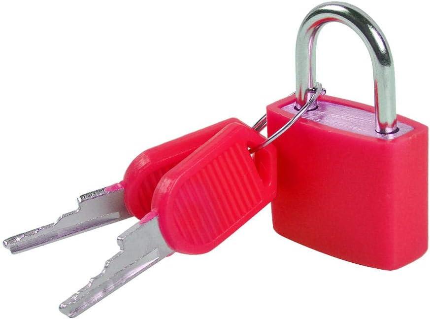 Colores UCEC 8X Mini Candados con Llaves de equipaje Candado de equipaje Peque/ño Candado de maleta para equipaje Bolsa de viaje Maleta Cadena