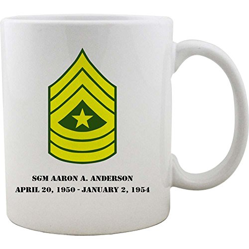Sergeant Coffee Mug (Army Sergeant Major Rank Coffee Mug)