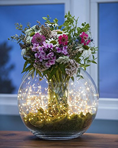 Topfashion 2Pcs Submersible Flower Vase Lights 20 Leds Candle Fairy String lights 7 ft Copper WireWarm White Color Amazon.co.uk Lighting : light up flowers in vase - startupinsights.org
