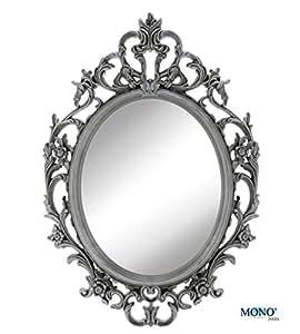 monoinside 15 x 10 5 framed oval wall mount mirror antique vintage classic. Black Bedroom Furniture Sets. Home Design Ideas