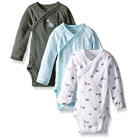 Carter's Baby Boys' 3 Pack Side Snap Bodysuits (Baby) - Olive - 6M