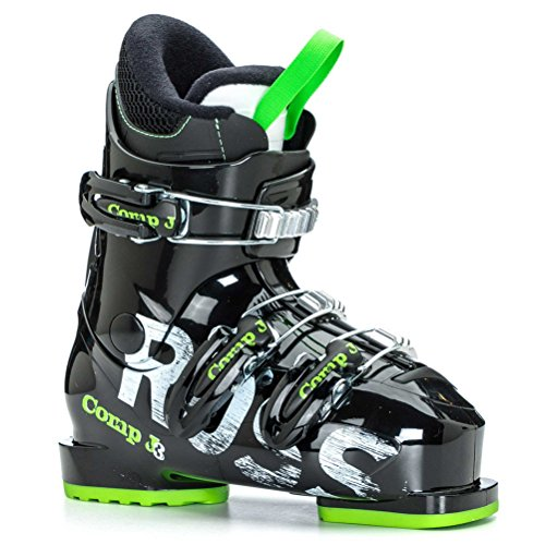 Black Kids Ski Boots - Rossignol Comp J3 Kids Ski Boots - 22.5/Black-Green