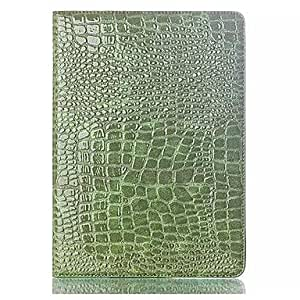 LZX Crocodile Texture PU and TPU Full Body Case with Stand for Samsung Galaxy Tab S T800 (Assorted Colors) , Green