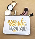 Wonder Woman Makeup Bag Funny Gift Canvas Pouches With Zipper