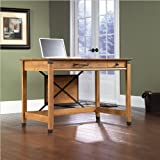 Sauder Registry Row Writing Desk Amber Pine