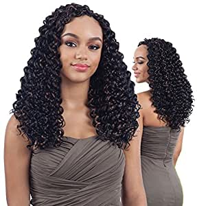 "3X PRESTO CURL 14"" (1 Jet Black) - Shake-N-Go FreeTress Synthetic Crochet Braids"