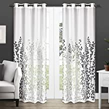 Exclusive Home Curtains Wilshire Burnout Sheer Grommet Top Window Curtain Panel Pair, Winter White, 54x84