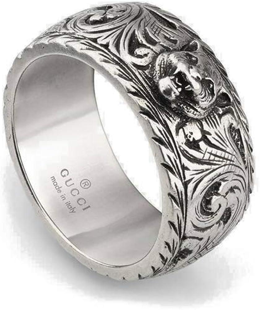 Gucci Gatto anillo plata 10mm ybc433571001025