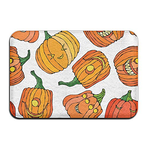 YOYUPRO Halloween Background Absorbent Non Slip Floor Rug Door Mat 23.6x15.7inch