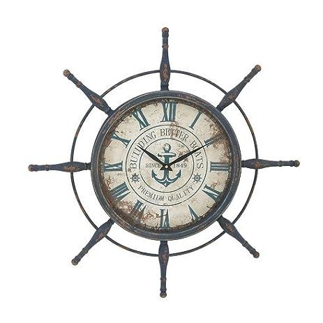 Oversized 29u0026quot; Attractive Ship Wheel Wall Clock