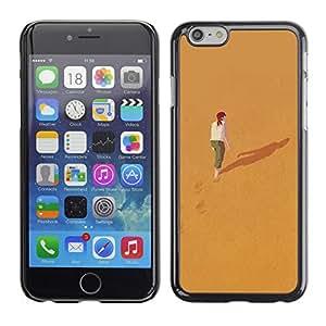 Paccase / SLIM PC / Aliminium Casa Carcasa Funda Case Cover para - Alone Deep Meaning Girl Redhead - Apple Iphone 6