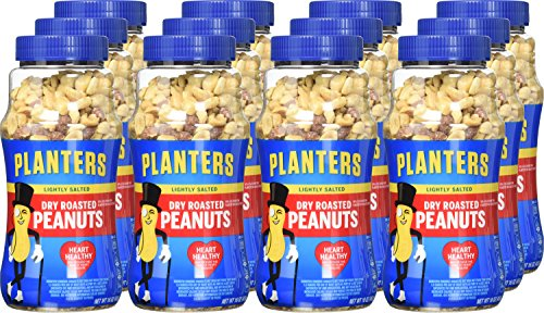 029000076501 - Planters Dry Roasted Peanuts Lightly Salted 16 oz (Pack of 12) carousel main 1