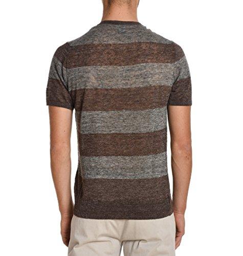 Eleventy Herren 979MA0026MAG19011514 Braun Leinen T-Shirt