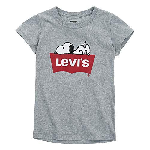 Levi's Girls' Little Batwing T-Shirt, Grey Snoopy 5 ()