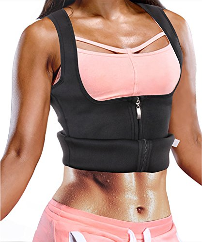Ursexyly Waist Trainer Sauna Suit Vest Hot Sweat Shaper Promotes Workout Heat Dissipation (2XL, Waist 36-38.5 Inch, Black)