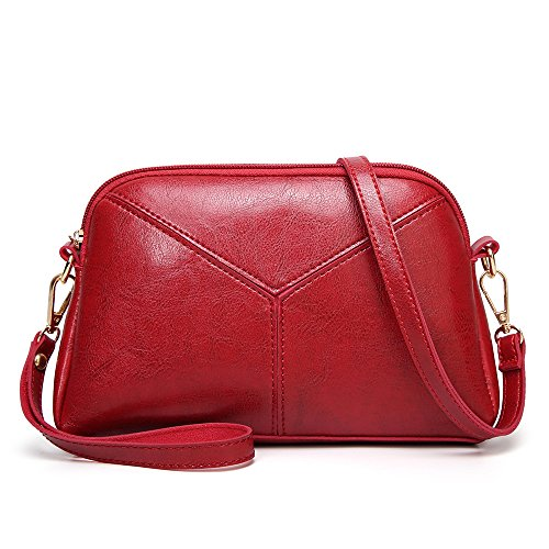 Handbags Bags Vintage Red Phone Bag Handbag Shell Small Leather INAYNER Shoulder Purse Ladies Crossbody O8zzqw