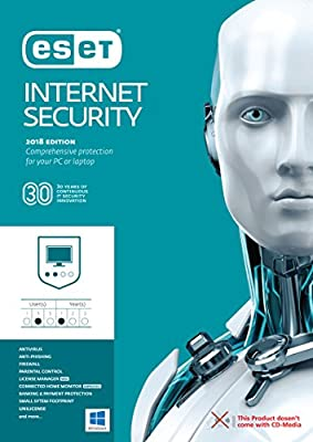 ESET Internet Security 2018, 3 Devices 1 Year, Download Key via Email
