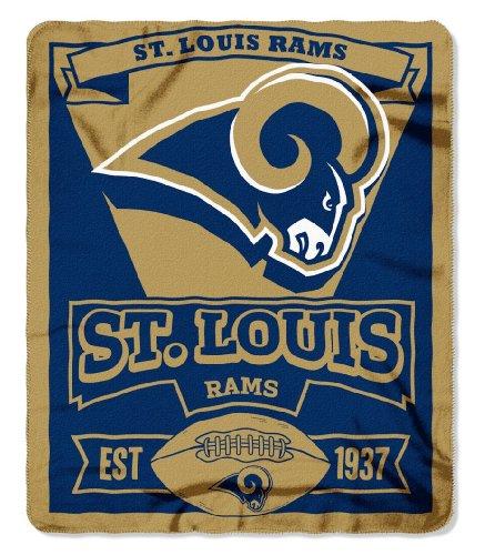(St. Louis Rams 50x60 Marque Design Fleece Blanket )
