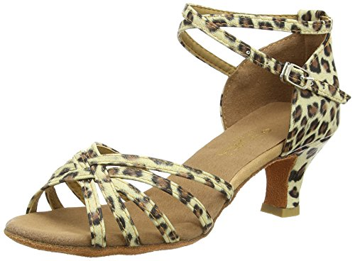 Amurleopard Latin leopard 5 with Shoes Heels Women's cm aaW1PqpAr